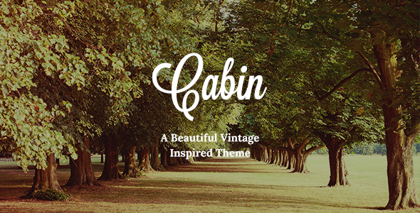 00 preview.  large preview - Cabin – A Beautiful Vintage-Inspired Theme