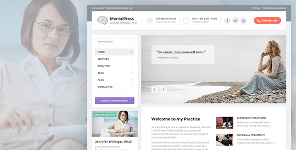 01 cover.  large preview - MentalPress - WP Theme for your Medical or Psychology Website.