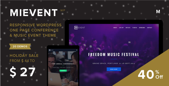 01 coverpicholidaysale.  large preview - MiEvent - Responsive Event & Music WordPress Theme