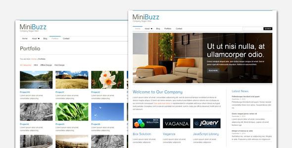 01 minibuzz preview.  large preview - MiniBuzz - Minimalist Business WordPress Theme