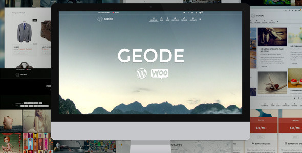 Geode themes wordpress - Geode Elegant eCommerce Multipurpose Theme