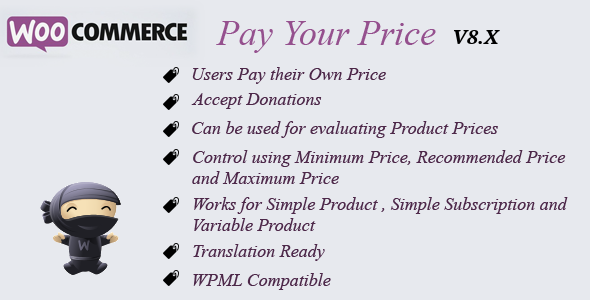 Pay Your Price Features Image - WooCommerce Pay Your Price
