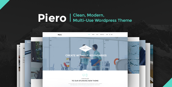 Piero 590x300.  large preview - PIERO | Clean, Modern, Multi-Use Wordpress Theme
