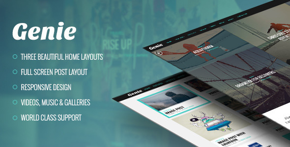 Theme preview.  large preview - Genie – Personal Blog Theme