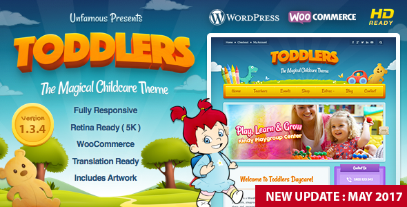 banner.  large preview - Toddlers - Kids, Child Care & Playgroup WordPress Theme