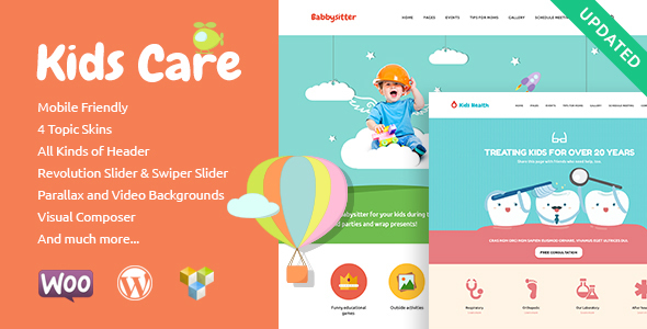 kids preview upd.  large preview - Kids Care | Multi-Purpose Children WordPress Theme