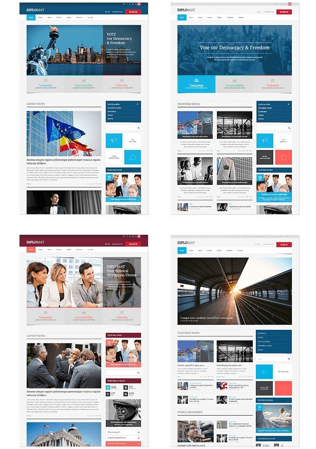 political party wordpress theme demo 1 - Classico - Responsive WooCommerce WordPress Theme