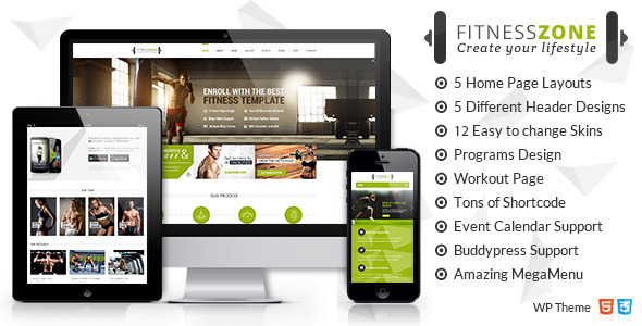 preview wp.  large preview - Fitness Zone | Gym & Fitness Theme, perfect fit for fitness centers and Gyms