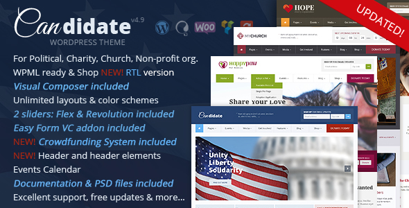 preview big.  large preview - Candidate - Political/Nonprofit/Church WordPress Theme
