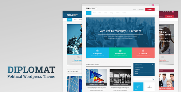vv - Diplomat | Political Campaign, Party, Blog Responsive WordPress Theme