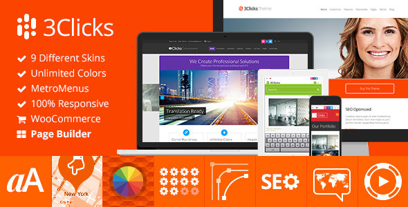 3clicks - 3Clicks | Responsive Multi-Purpose WordPress Theme