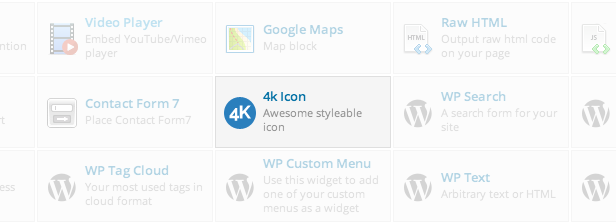 4k3 - 4k Icon Fonts for WPBakery Page Builder (fomerly Visual Composer)