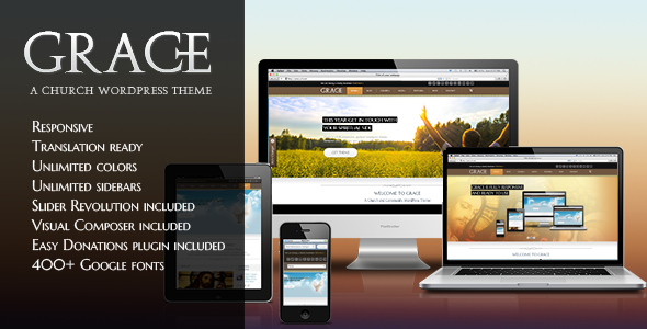 Grace Religion WordPress Theme - Grace - Religion WordPress Theme