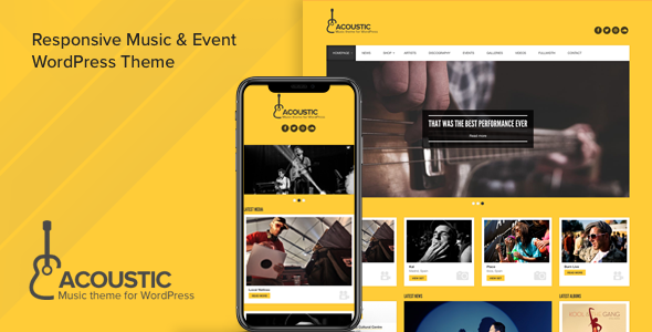 acoustic - Acoustic - Premium Music WordPress Theme