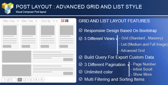 advance - Advance Post Grid/List with custom filtering for Visual Composer