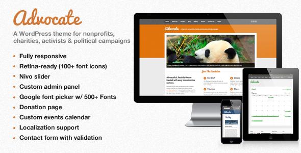 advocate - Advocate - A Nonprofit WordPress Theme