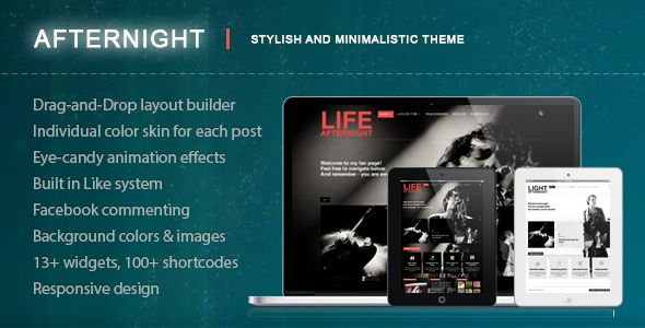 afternight - Afternight - A Stylish Minimalist Responsive Theme