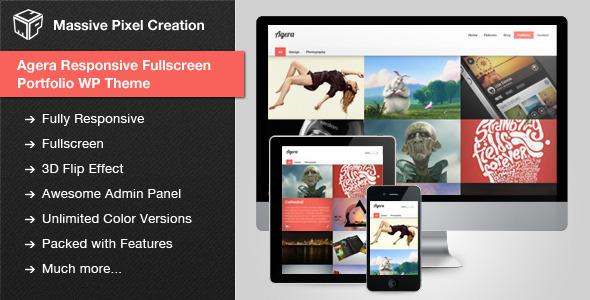 agera - Agera Responsive Fullscreen Portfolio WP Theme