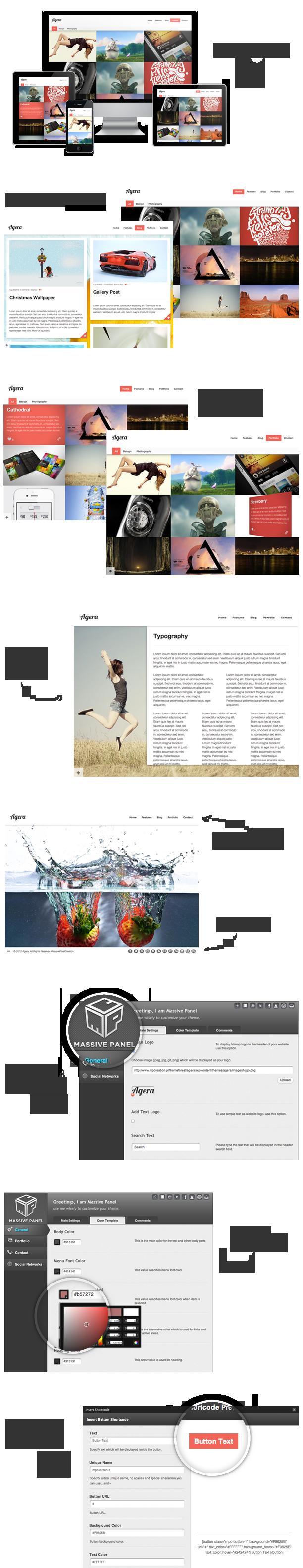 agera2 - Agera Responsive Fullscreen Portfolio WP Theme