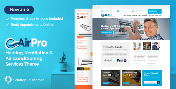 airpro - AirPro - Heating and Air conditioning WordPress Theme for Maintenance Services