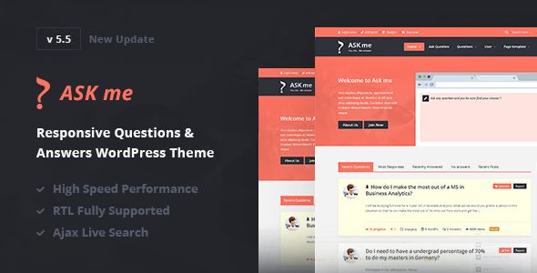 ask - Ask Me - Responsive Questions & Answers WordPress