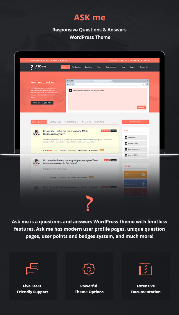 ask2 - Ask Me - Responsive Questions & Answers WordPress