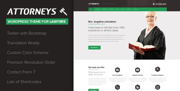 attorney - Attorney - Corporate WordPress Theme
