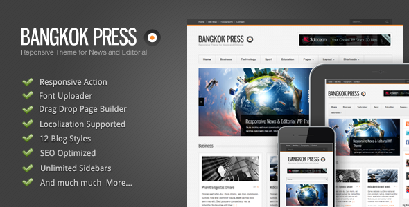 bangkok - Bangkok Press - Responsive, News & Editorial Theme
