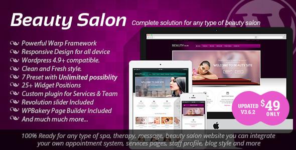 beauty - Beauty Salon - Responsive WordPress Template