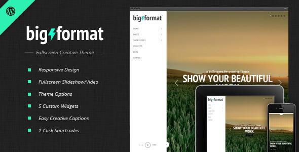big - BigFormat - Responsive Fullscreen Wordpress Theme
