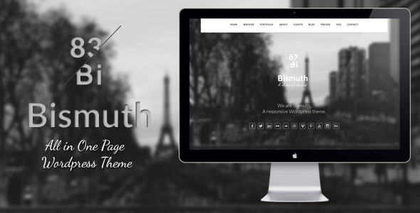 bismuth - Bismuth : All in One Responsive WP Theme
