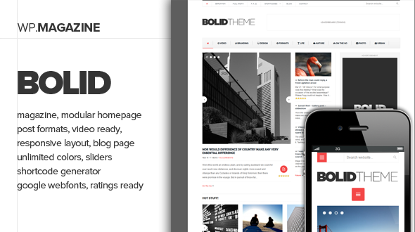 bolid - Bolid - Responsive News, Magazine and Blog Theme