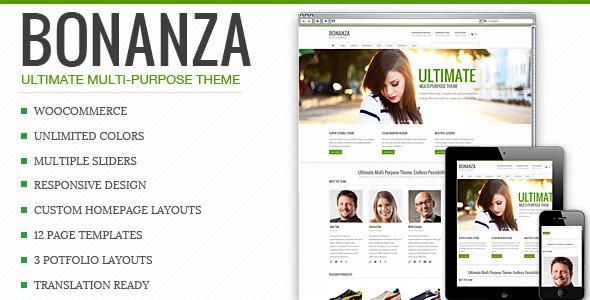 bonanza - Bonanza - Responsive Multi-Purpose WordPress Theme