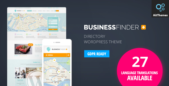 business 1 - Business Finder: Directory Listing WordPress Theme