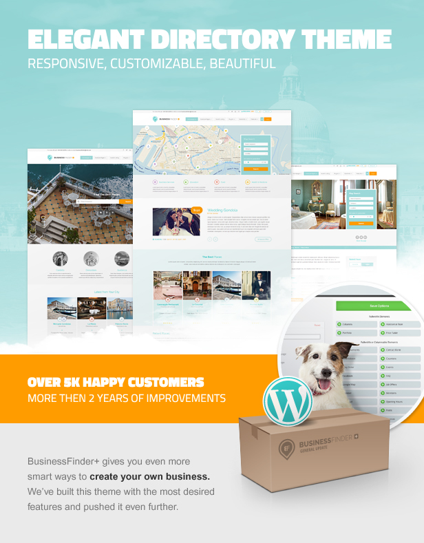 business2 - Business Finder: Directory Listing WordPress Theme