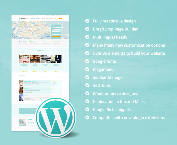 business7 - Business Finder: Directory Listing WordPress Theme