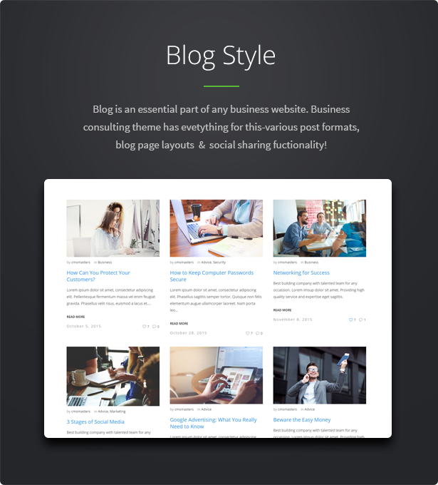 business7 - Business Consulting - Coaching, Business Training & Consulting WordPress Theme
