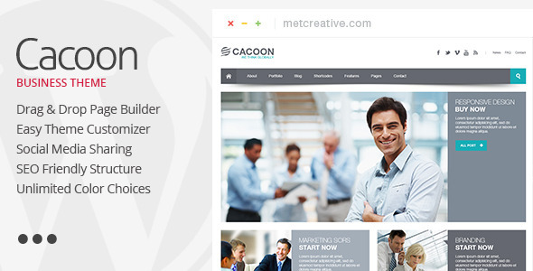 cacoon - Cacoon - Responsive Business WordPress Theme