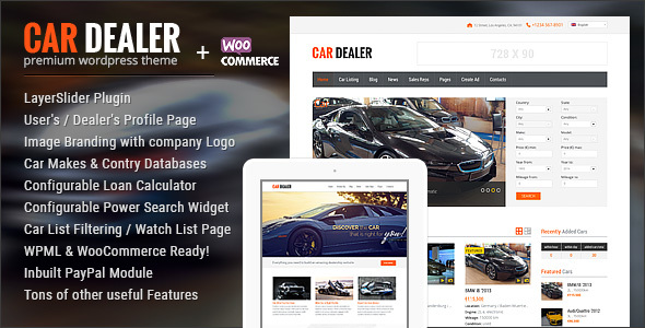 car - Car Dealer Automotive WordPress Theme – Responsive