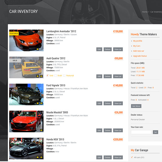 car5 - Car Dealer Automotive WordPress Theme – Responsive