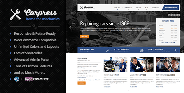 carpress - CarPress - WordPress Theme For Mechanic Workshops