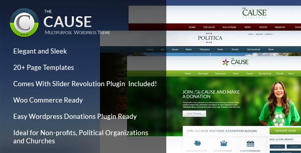 cause - The Cause - Non-Profit WordPress Theme