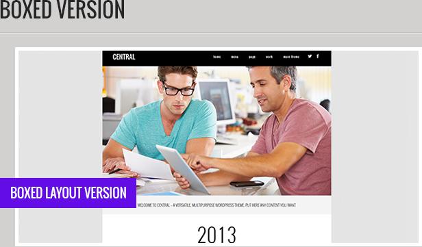 central5 - Central - Versatile, Multi-Purpose WordPress Theme