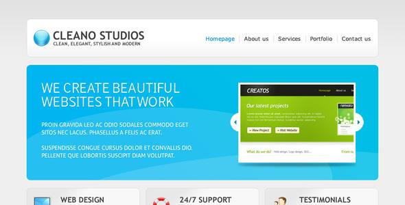 cleano - Cleano Studios WordPress Version