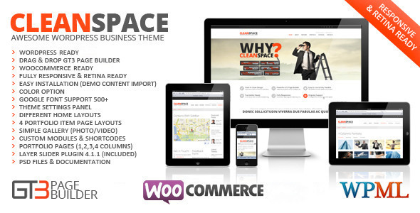 cleanspace - CleanSpace Retina Ready Business WP Theme