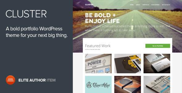 cluster - Cluster - A Bold Portfolio Wordpress Theme