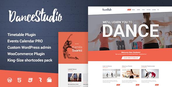dance studio - Dance Studio - WordPress Theme for Dancing Schools & Clubs