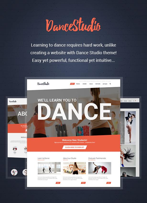 dance studio2 - Dance Studio - WordPress Theme for Dancing Schools & Clubs