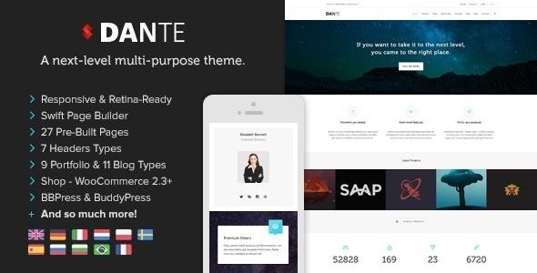 dante - Dante - Responsive Multi-Purpose WordPress Theme
