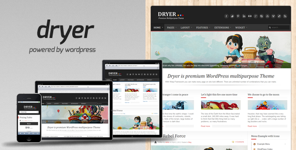 dryer - Dryer - Multipurpose WordPress Theme